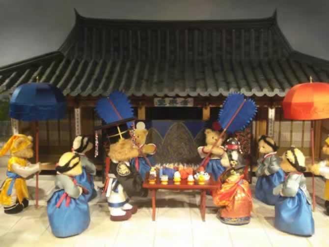 韩国首尔旅游南山泰迪熊画廊,非常适合甜蜜的情侣和有小朋友的家庭