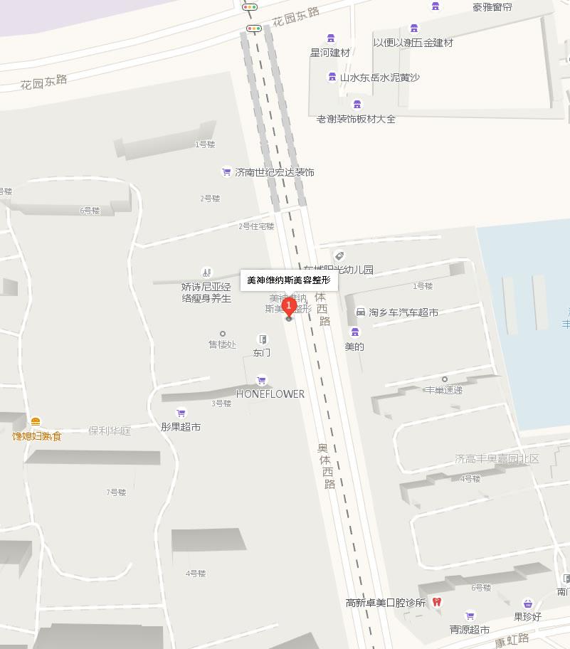 济南美神维纳斯美容整形医院好吗地址哪条路?