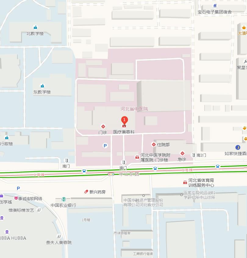 河北省石家庄中医院整形美容科好吗地址哪条路?
