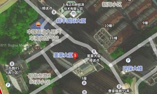 上海美莱医疗美容门诊部地址卫星图示