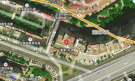 天津美莱口腔医院地址卫星图示