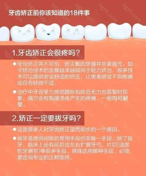 牙齿矫正只能戴牙套吗?要拔牙吗?能瘦脸吗?成年人矫正牙齿会反弹吗?…牙齿矫正前你该知道的18件事↓↓你关心的问题都在这!